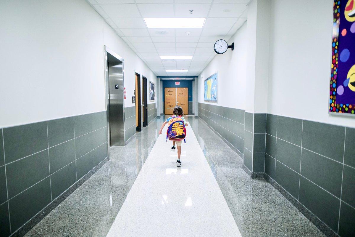 Children returning to school after lockdown