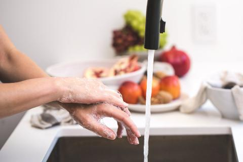 Washing Hands to maintain hand hygiene during covid-19